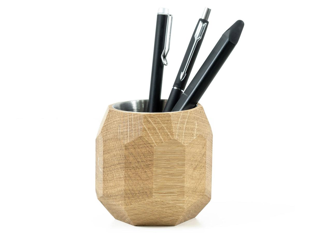 Oakywood Geometric Pen Holder Oak - Houten Pennenhouder Eiken