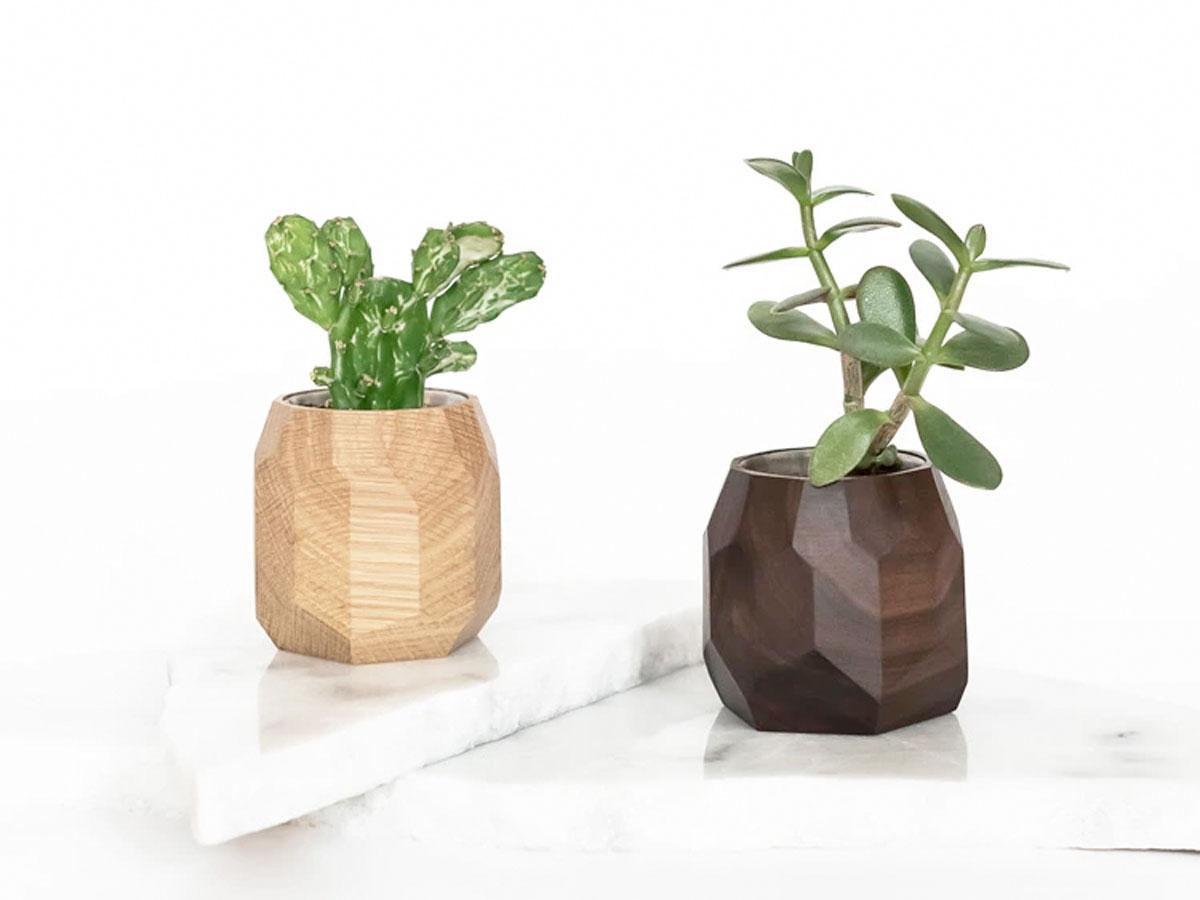 Oakywood Geometric Planter Walnut - Bureau Vetplant Potje