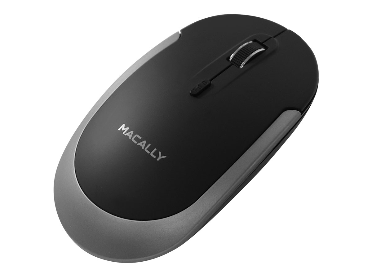 MacAlly BTDYNAMOUSE-SG Draadloze Bluetooth Muis Space Grey Zwart
