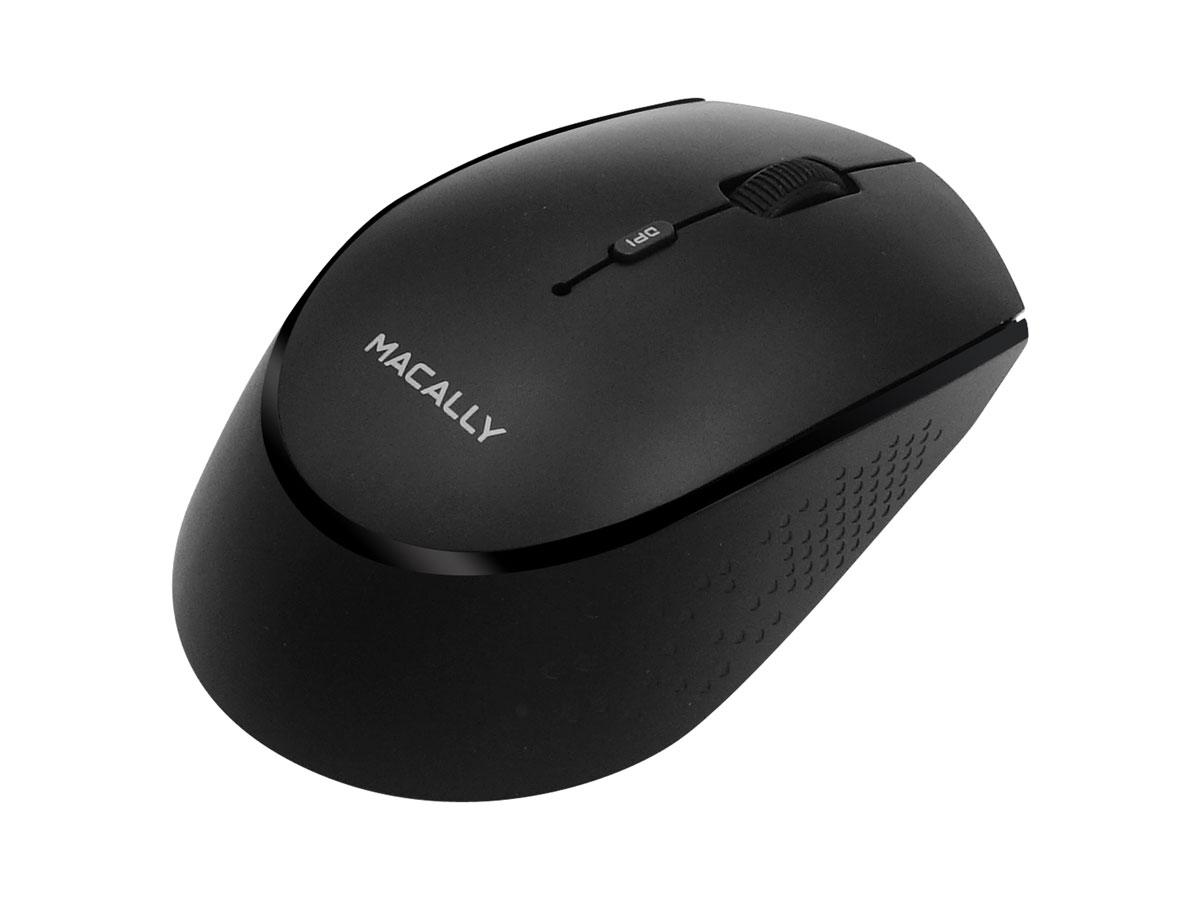 MacAlly BTEZMOUSEBAT-B Oplaadbare Draadloze Bluetooth Muis Zwart