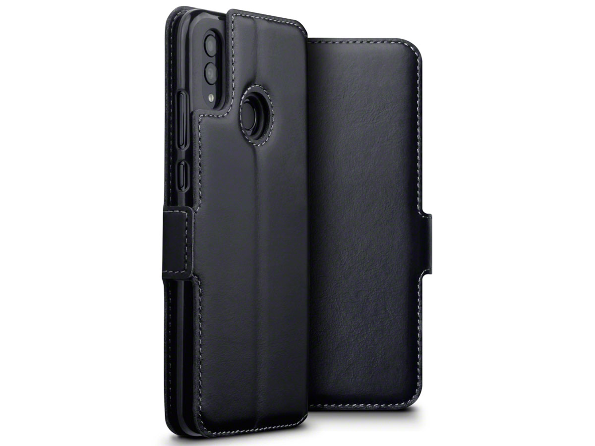 CaseBoutique Wallet Zwart Leer - Honor 10 Lite hoesje