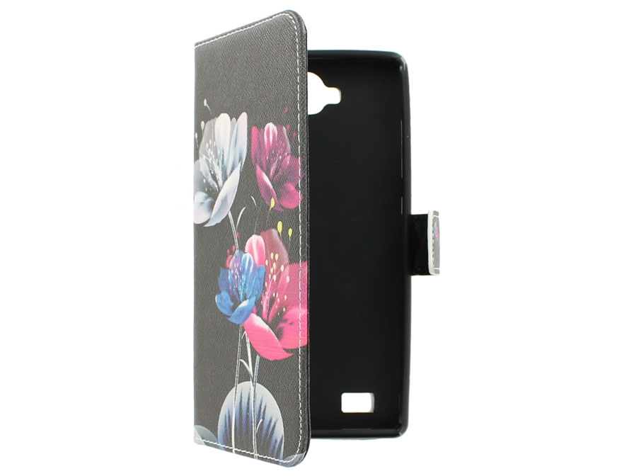 Beautiful Flowers Book Case - Honor 3C Hoesje