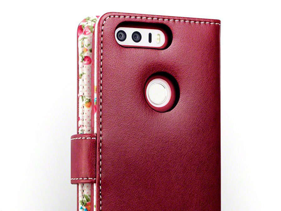 CaseBoutique Flower Wallet Bookcase - Honor 8 hoesje