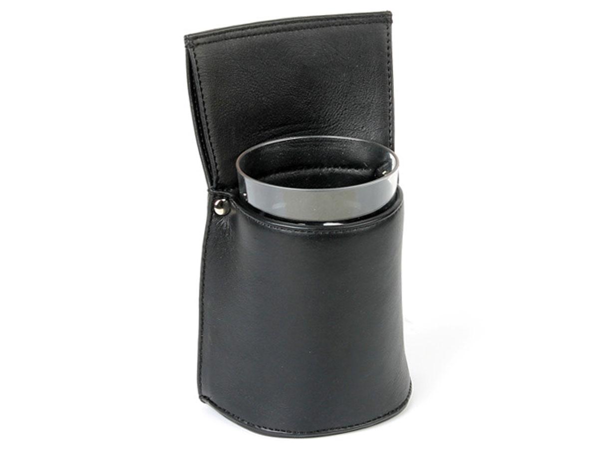 Horeca Holster voor Vaatdoek Glas - Zwart Leer