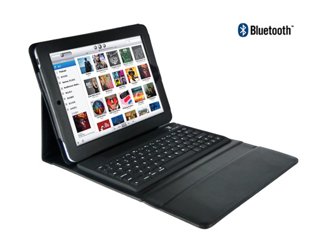 Keyboard Folio Kunstleren Hoes Case voor iPad 2, 3 & 4