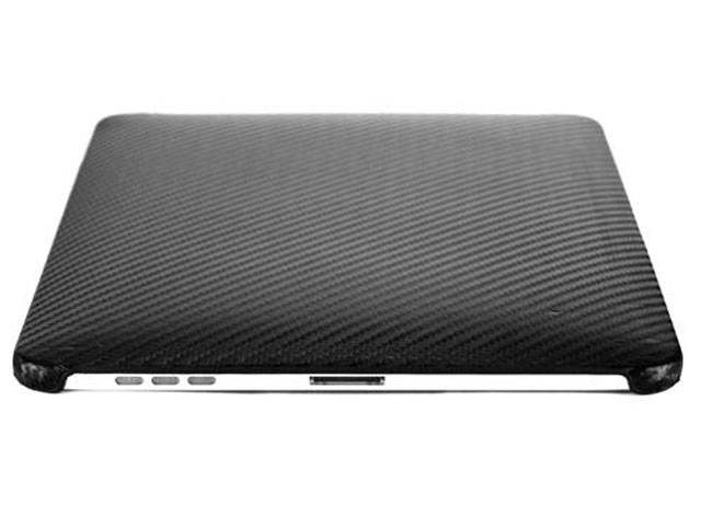 Carbon Leather Backcase voor iPad 1