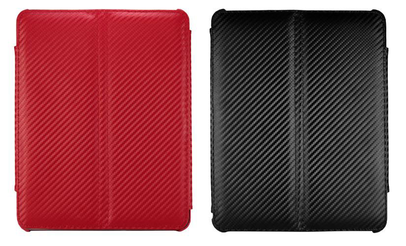 Carbon Leather Viewstand Case Hoes voor iPad