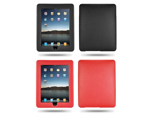 Leather Hard Case Hoes voor iPad 1