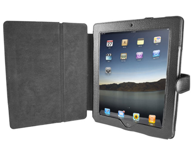 Leather Viewstand Book Case Hoes voor iPad 1
