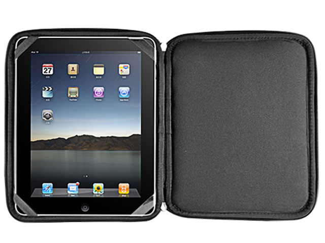 Leather Viewstand Bag Case Hoes voor iPad