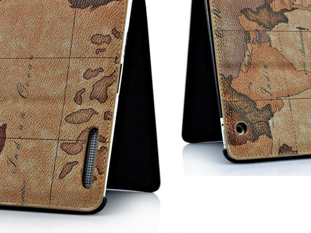 Antique World Stand Case Hoes Cover voor iPad 2 (Statis)