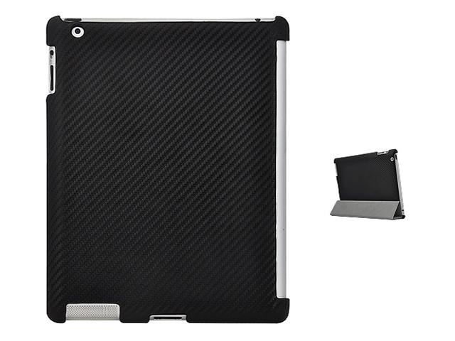 Carbon Smart Back Cover Case Hoes voor iPad 2