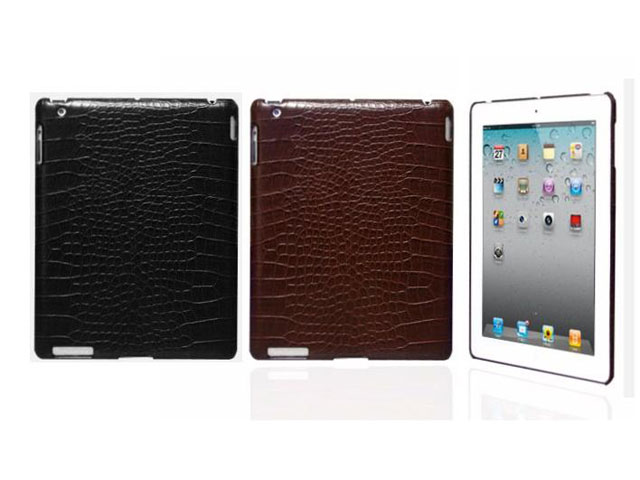 Croco Leather Back Case Hoes voor iPad 2