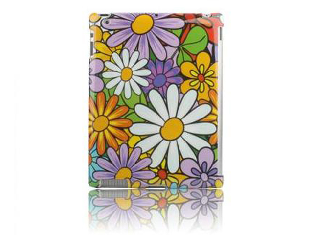 Flower Smart Back Cover Case Hoes voor iPad 2