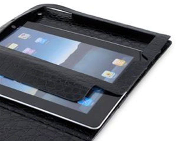 Glossy Croco Work & Media Stand Case voor iPad 2