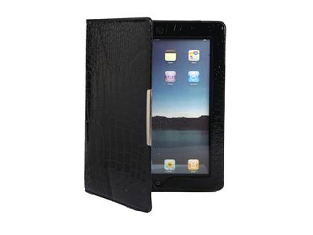 Glossy Croco Book Case Hoes voor iPad 2