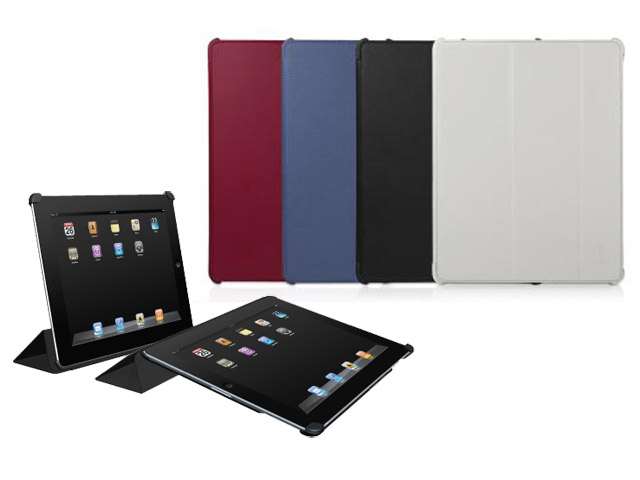 MacAlly Bookstand 2 Kunstleren Case Hoes voor iPad 2 Rood
