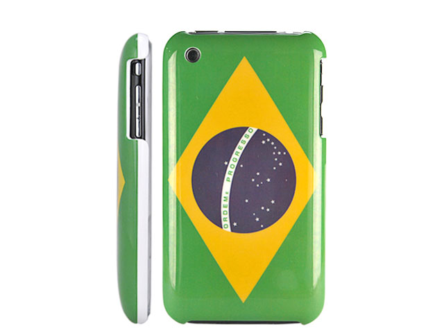 Brazil Flag Back Case Hoes voor iPhone 3G/3GS