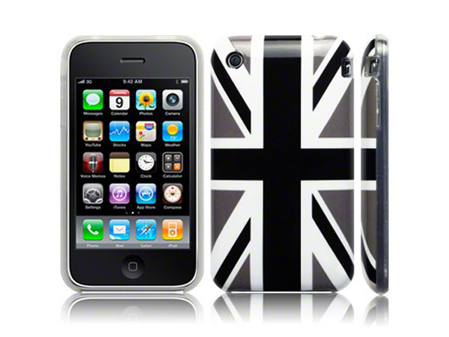 Call Candy Black Great Brittain Flag TPU Hoesje voor iPhone 3G/3GS