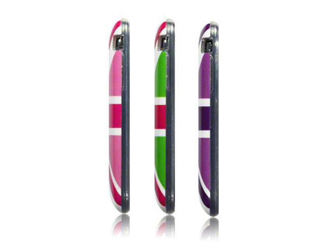 Call Candy Colored Great Brittain Flag TPU Hoesje voor iPhone 3G/3GS