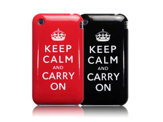 CaseBoutique 'Keep Calm and Carry On' TPU Hoesje voor iPhone 3G/3GS