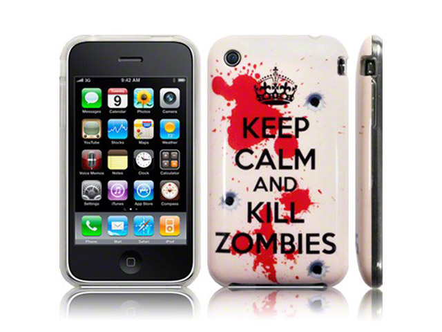 CaseBoutique 'Keep Calm and Kill Zombies' TPU Hoesje voor iPhone 3G/3G