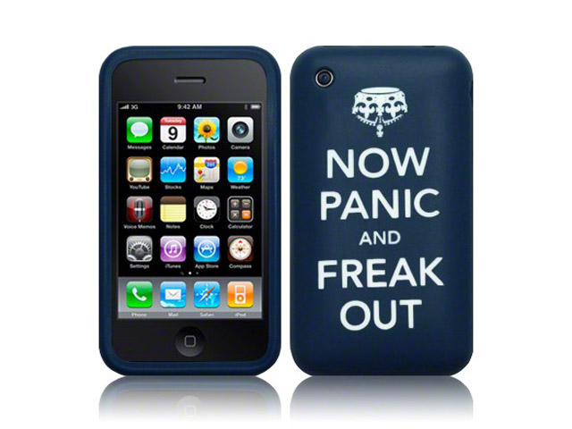 CaseBoutique 'Now Panic and Freak Out' Silicone Skin voor iPhone 3G/3G