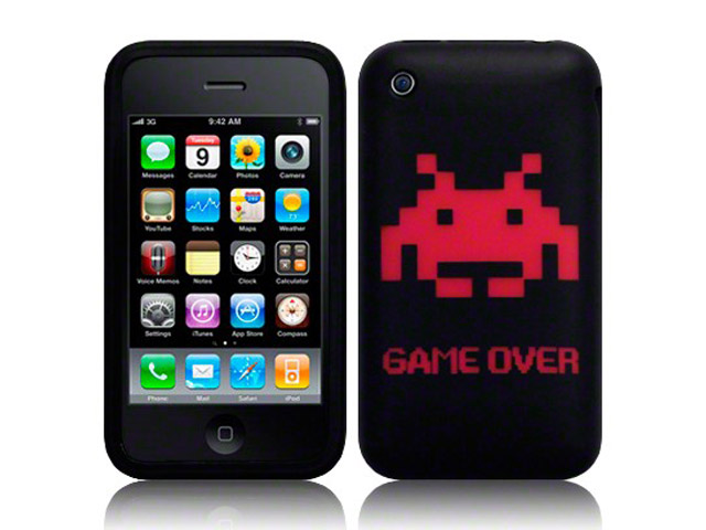 CaseBoutique Space-Invaders Silicone Skin Case Hoesje voor iPhone 3G/3