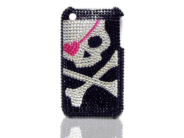 Diamond Love Skull Case voor iPhone 3G/3GS