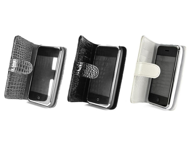 Croco Side Flip Case Hoes voor iPhone 3G/3GS