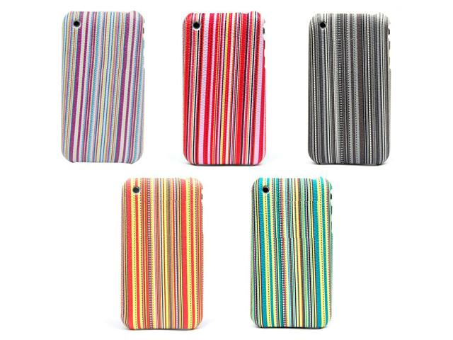 Colorful Stripes Back Case Hoes voor iPhone 3G/3GS
