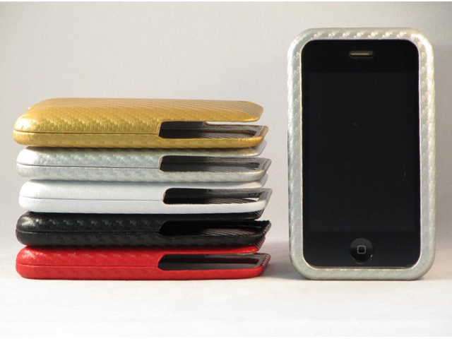 Carbon Leather Case voor iPhone 3G/3GS