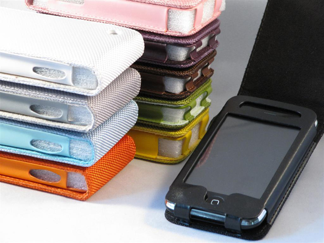 Cotton Flip Case Hoes voor iPhone 3G/3GS