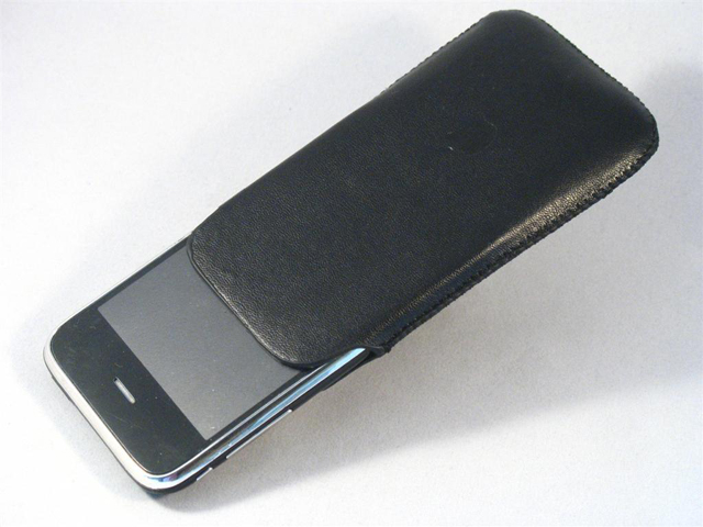iPhone Ultraslim Leren Sleeve / Holdster