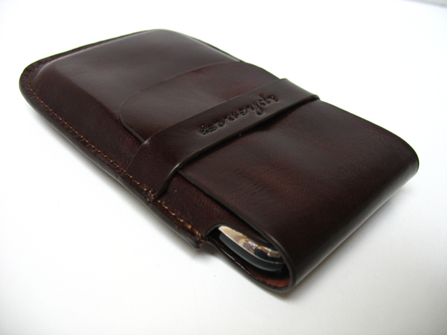 Genuine Leather holdster voor iPhone