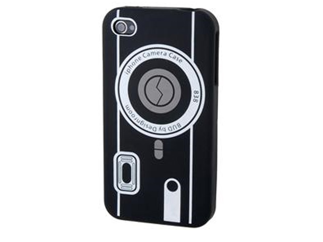 Camera Silicone Skin Case Hoes voor iPhone 4/4S