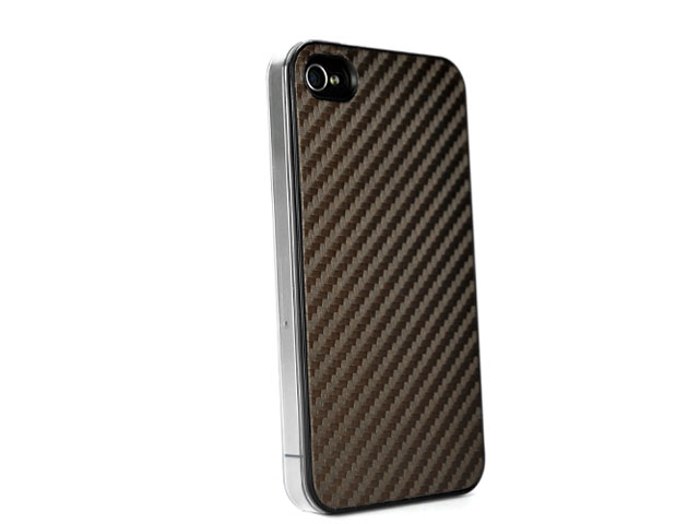 Carbon UltraSlim Back Case Hoes voor iPhone 4