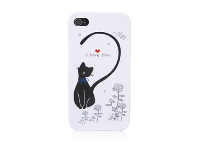 Case Hoesje 'I Love You' Cat voor iPhone 4