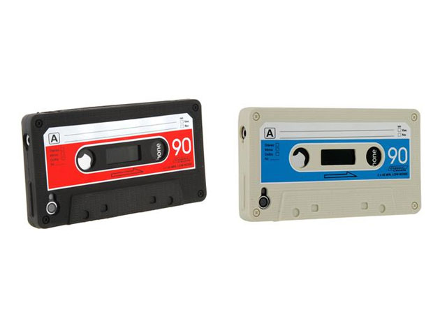 Cassette Tape Silicone Skin Case voor iPhone 4