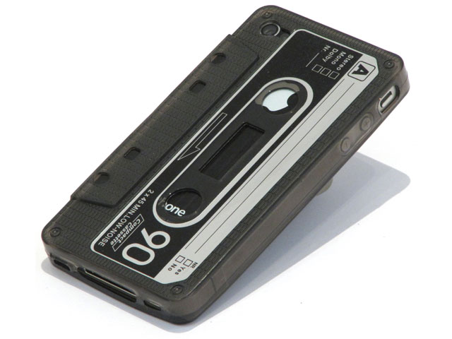 Cassette Tape TPU Case Hoes voor iPhone 4/4S