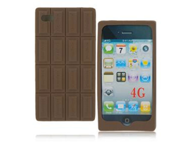 Chocolade Silicone Skin Hoes voor iPhone 4