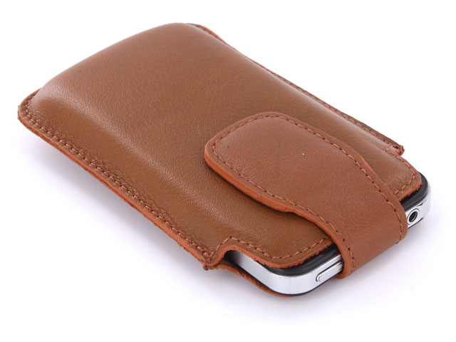 Classic Business Leren Sleeve Case voor iPhone