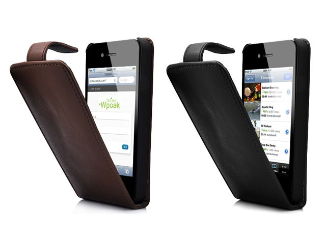 Classic Series Leather Business Case voor iPhone 4/4S