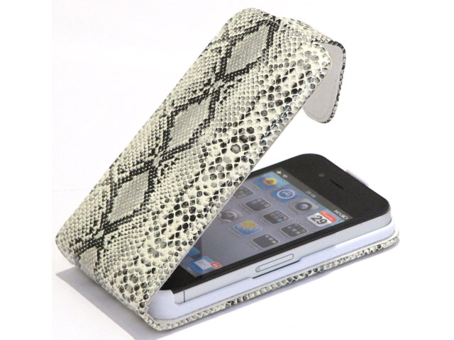 Colorfone Lizard Slim Elegant Leather Case voor iPhone 4/4S