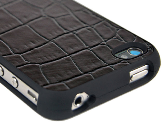 Croco Leather Hard Case Hoes voor iPhone 4/4S