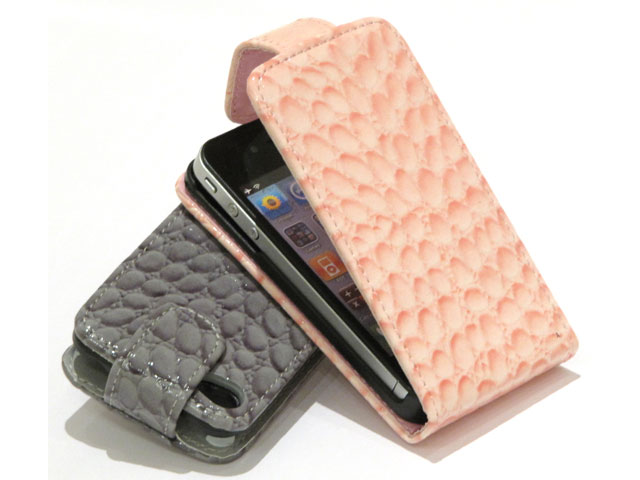Crocodile Slim Elegant Leather Case voor iPhone 4/4S
