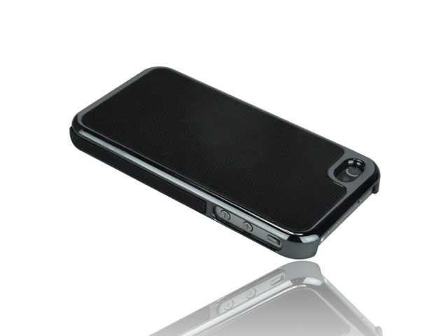 Deluxe Leather Hard Case Hoes voor iPhone 4/4S
