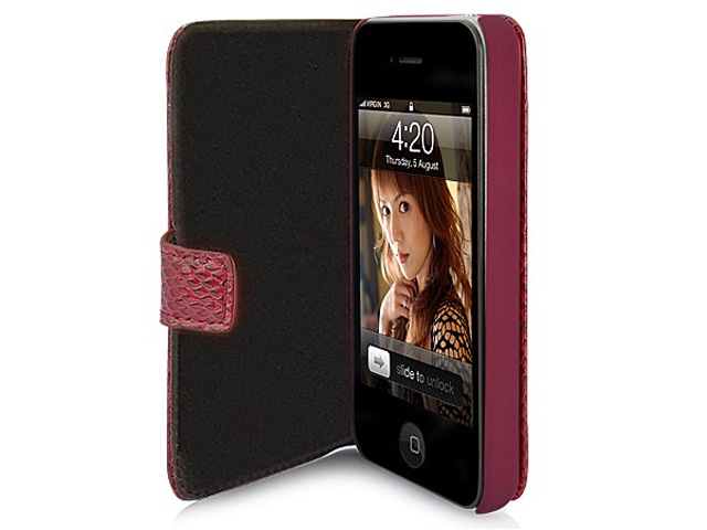 Deluxe Snake Side Flip Case Hoes voor iPhone 4/4S