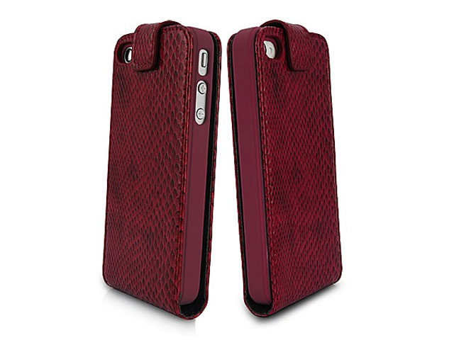 Deluxe Snake Bottom Flip Case Hoes voor iPhone 4/4S