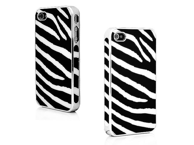 Deluxe Zebra Back Case Hoes voor iPhone 4/4S